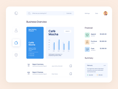 Business Management design flat iconography icon art app layout clean type typography minimalistic minimal web website illustration