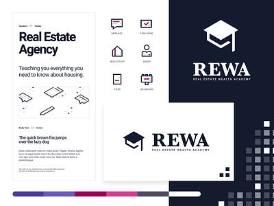 Rewa Brand Splash creative design flat iconography icon art app layout clean type typography minimalistic minimal web website illustration