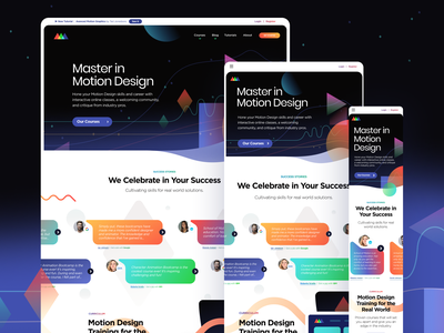 SOM Responsive website minimal web branding minimalistic illustration typography creative motion education school of motion school ux ui design responsive