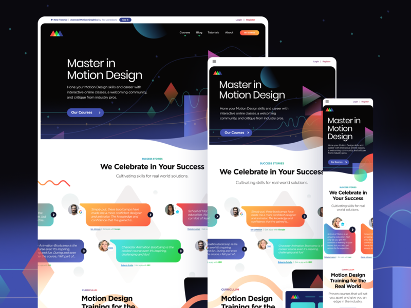 SOM Responsive website minimal web branding minimalistic illustration typography creative motion education school of motion school ux ui design responsive