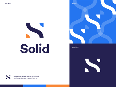 Solid - Underwriting Services Concept creativity creative ux illustration minimal icon vector branding logo design clean minimalistic