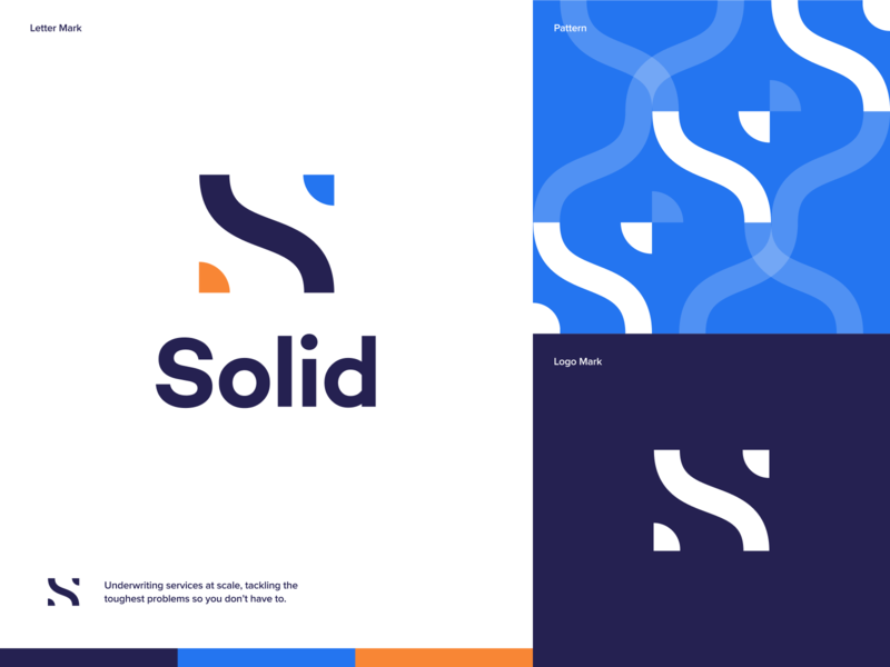 Solid - Underwriting Services Concept creativity creative ux illustration minimal icon vector branding logo design clean minimalistic