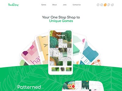 Borderleap game creative typography logo branding minimal website illustration web design clean minimalistic