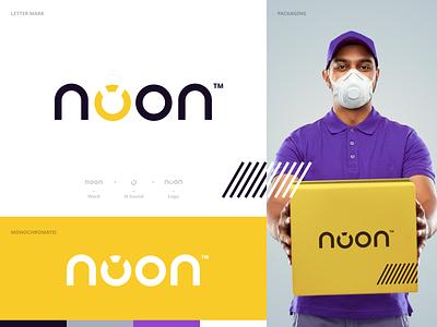 Noon Branding Concept app typography minimal branding website illustration design clean minimalistic emirates logo creative