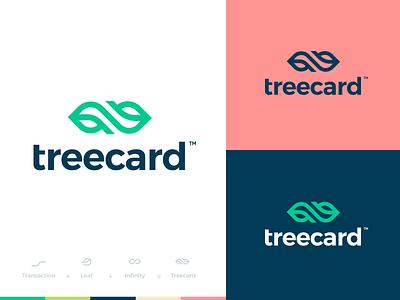 TreeCard typography creative logo branding minimal app web illustration design clean minimalistic