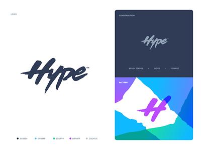 Hype design website web app flat minimal typography branding logo clean minimalistic