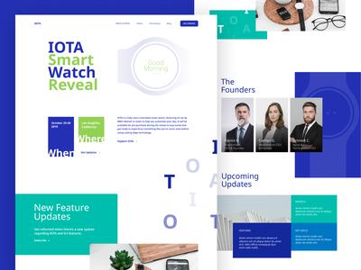 IOTA typography branding website minimal app web illustration design clean minimalistic