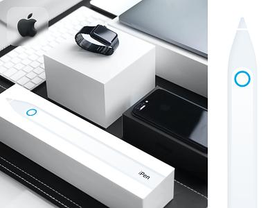iPen Concept brand branding flat website minimal typography app web illustration design clean minimalistic