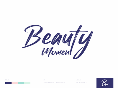 Beauty Moment Beauty Products product icon branding website minimal app web illustration design clean minimalistic