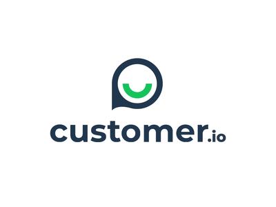 Customer.io Logo Reveal green black customer gif animation reveal logo branding minimalistic design clean flat app white typography ux ui