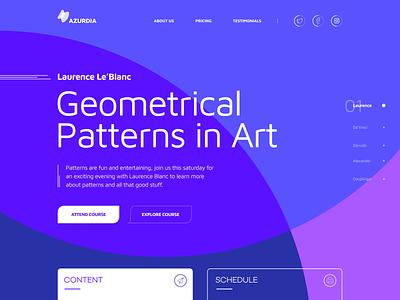 Azurdia 2d blue black landing gradient web branding typography design clean minimalistic app vector logo illustration white flat ux ui