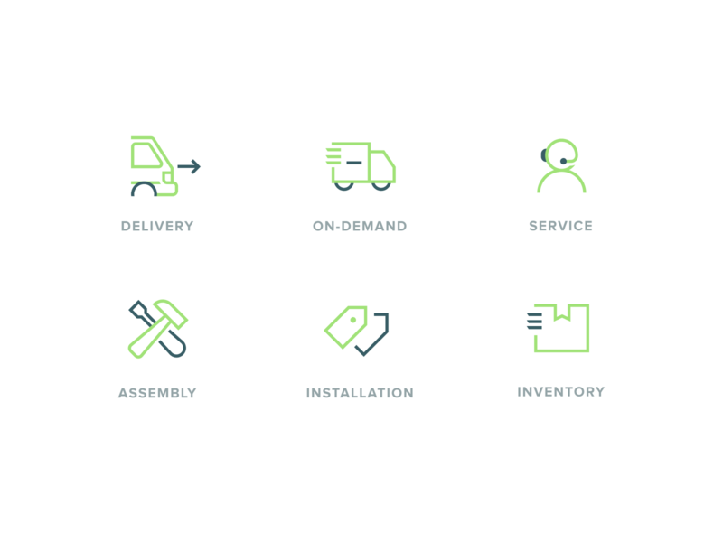 Pickup Icon icons icon service icons green delivery service delivery typography illustration design flat branding app white minimalistic clean ux ui