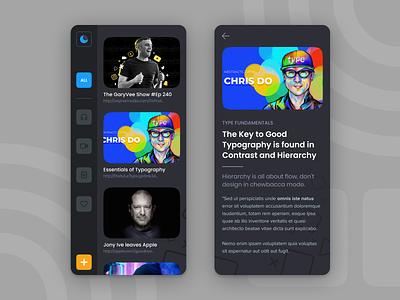 RSS Feed - Adobe Live Stream mobile typography illustration design flat branding app minimalistic clean ux ui