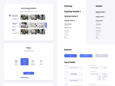 Styleguide blue app minimal kit simple web landing illustration design white minimalistic clean branding ux ui styleguide