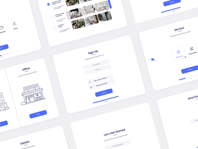 HK Real Estate web flat app landing design white clean branding minimalistic ux ui
