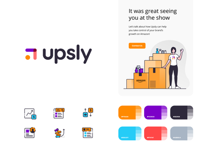Upsly Brand Elements designs logo website layout brand color typography newsletter design white clean branding minimalistic ux ui