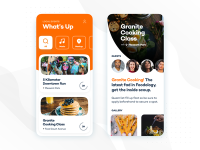 Adobe Presentation design ui app clean minimalistic cards landing images illustration branding orange mobile ui card ux mobile design mobile