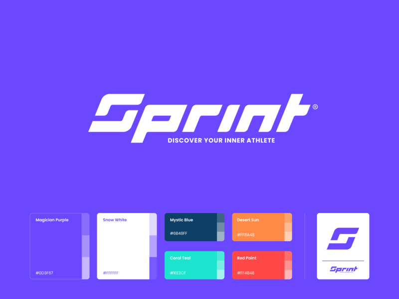 Sprint Logo lettering typography sports soccer football clean design white web minimalistic branding sports branding sports logo sprint sport