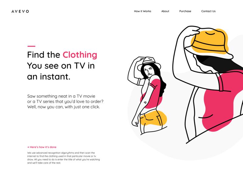 Avevo layout brand website shop ecommerce app sales platform shopify ecommerce clothing illustration web landing design ui clean ux branding minimalistic
