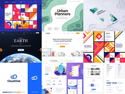 Top 9 of 2019 brand logo typography web app white design animation illustration minimal website design landing website ui ux branding minimalistic