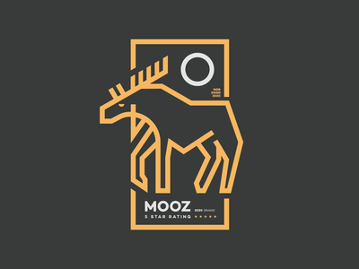 MOOZ vector typography landing web app design minimalistic illustration minimal branding clothing brand logo