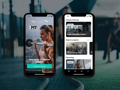 XFit Workout App app design iosdesign ios iphone mobileappdesign mobile app design mobile app ux ui app