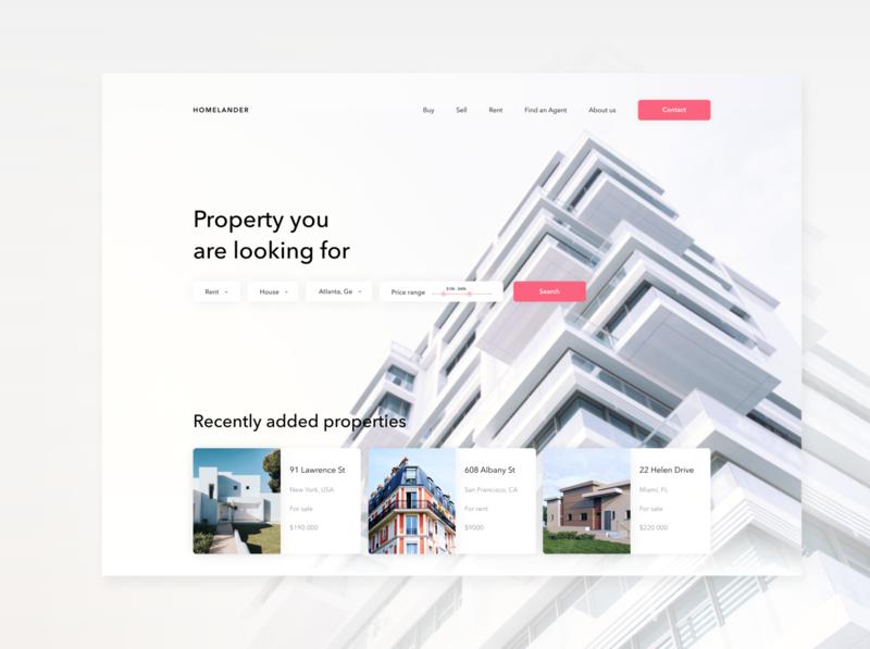 Homelander house buildings property realestate real estate web design website design webdesign website web desktop ui design ux