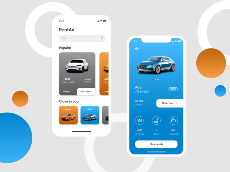 RentAV App rental car rental app rental car mobile app design ui mobileappdesign mobile app iphone iosdesign ios design app ux