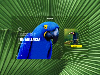 Ablencia Shot tropical parrot green web website webdesign ux branding app design ui