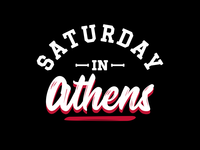 Saturday in Athens T-Shirt Design for Seven Six Apparel