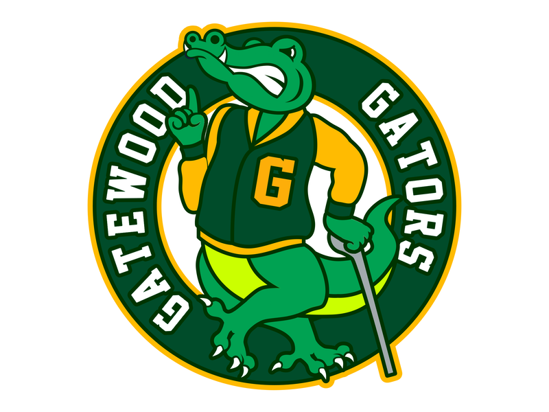 Gatewood Gators Primary mascot logo gators gatewood