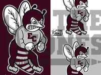 East Central Hornets Revamped Old School Logo