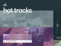 Audio Platform - Homepage mockup