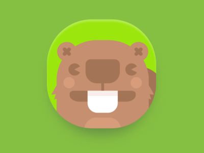 App icon - Upcoming project cute application icon app ios beaver