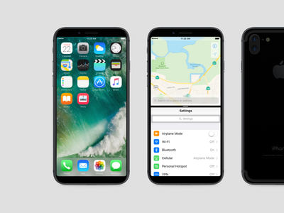 iPhone 8 Concept screen bezel border ios11 8 iphone apple amoled display