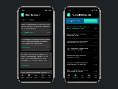 MarketTalk - True dark mode iphone xs dark app market stock theme black amoled dark