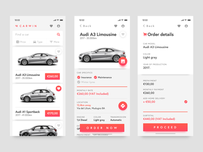 Car Leasing App car booking order delivery credit lease rent vehicle car