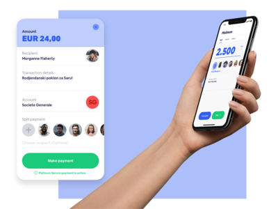 Platinum - Mobile payment / Popup