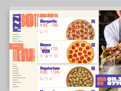 pizzeria website menu