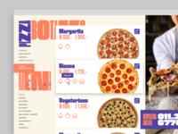 pizzeria website menu