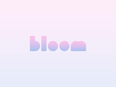 bloom baby clothes baby baby supply gradient logo design logo concept minimal design concept logo bloom