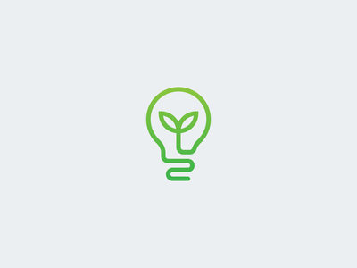 Smart Grow vector logo logo design logo concept application app branding light bulb light minimal concept plant garden smart garden smart grow