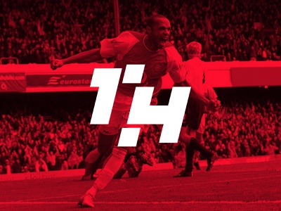 TH14 thieves monogram design branding vector logo flat logo design logo concept sport sports logo soccer football highbury gunners arsenal thierry henry king henry