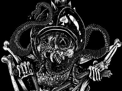 Art for sale t-shirt art skull hesher for sale big wheel skeleton