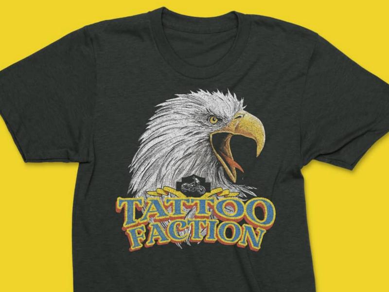 Eagle shirt tattoo birdofprey america bald eagle eagle illustration t-shirt