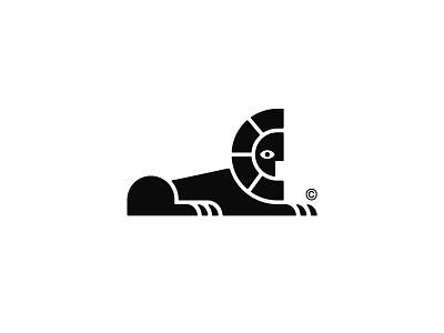 Sphinx logo concept human animal logo symbol mark sphinx