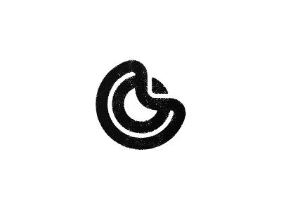 Ribbons stencil geometry logo symbol mark