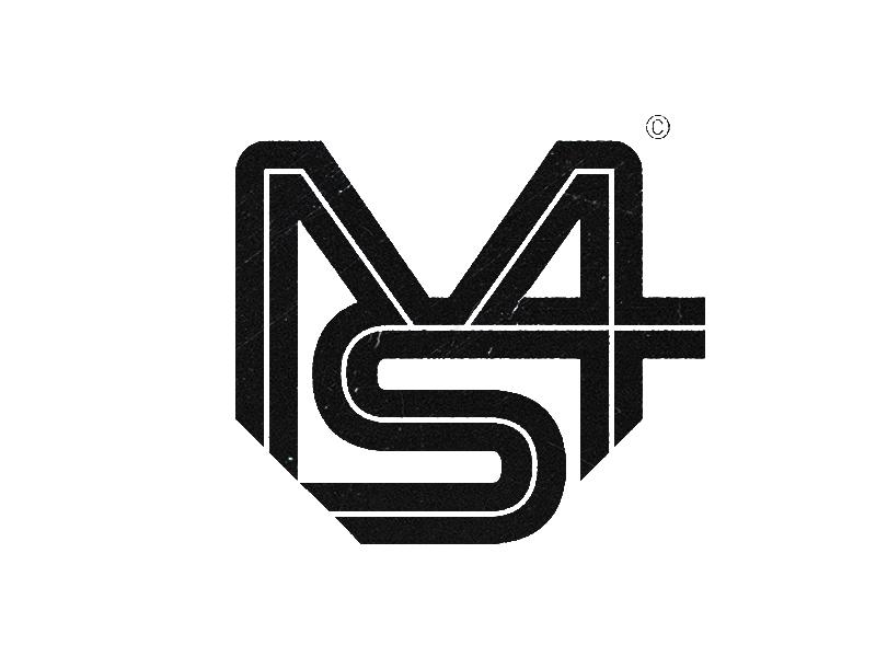 MS4 sport ribbonsm logo symbol mark letter