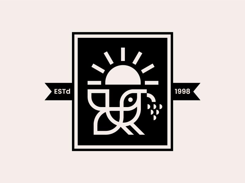 Good Morning Bird vintage modern geometry animal logo symbol mark bird