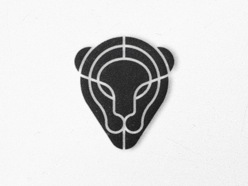 Pantera geometry pantera modern vintage animal logo symbol mark cat